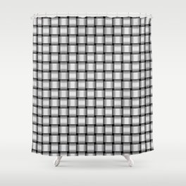 Small Pale Gray Weave Shower Curtain