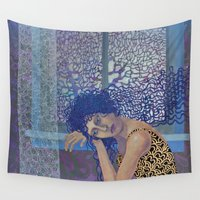 window Wall Tapestries featuring Window by doviArt