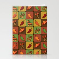 mexican Stationery Cards featuring Mexican Squares by Matt Andrews
