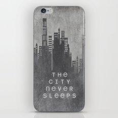 The City Never Sleeps iPhone & iPod Skin