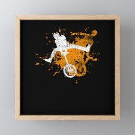Unicycle Framed Mini Art Print