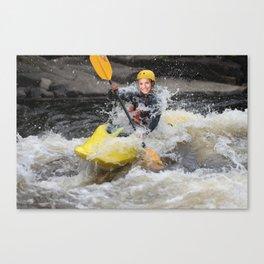 Kayak Macha Canvas Print