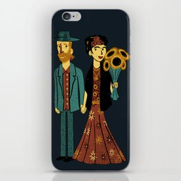 Love is Art Frida Kahlo and Van Gogh iPhone Skin