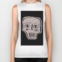 skeleton Biker Tanks featuring Skeleton by Hadar Geva