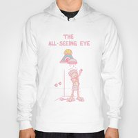 all seeing eye Hoodies featuring The All-Seeing Eye by Lili Batista