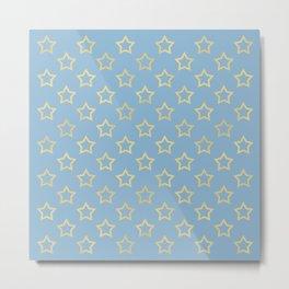 The Golden Stars Pattern III Metal Print