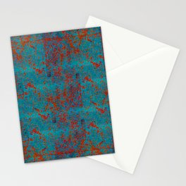 Turquoise with Red Stationery Cards