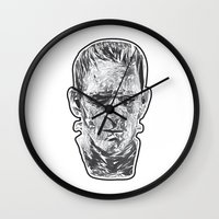 prometheus Wall Clocks featuring The Fractured Prometheus by Rabassa