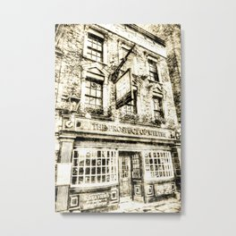 Prospect of  Whitby Pub London 1520 Vintage Metal Print