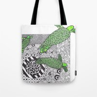 turtles Tote Bags featuring Turtles by Kandus Johnson