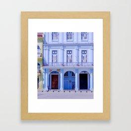 Colonial Building in Old Havana Cuba Framed Art Print