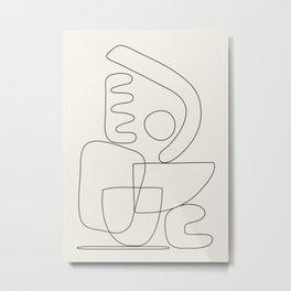 Minimal Abstract Shapes 01 Metal Print