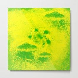 Radioactive mushroom landscape Metal Print