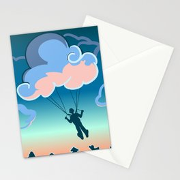 Cloud-parachute Stationery Cards