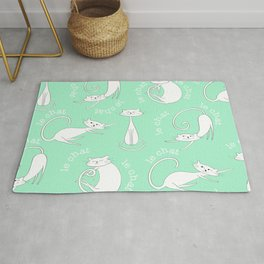Le Chat - Mint Green Rug