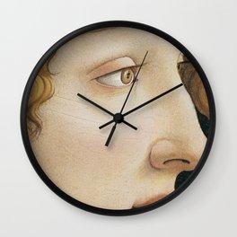 Botticelli c 1480 Portrait of Simonetta Vespucci detail Wall Clock