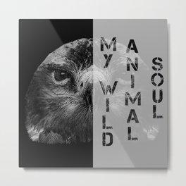 My wild animal soul eagle face, raptorial birds Metal Print