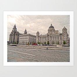 3 Graces of Liverpool HDR Art Print