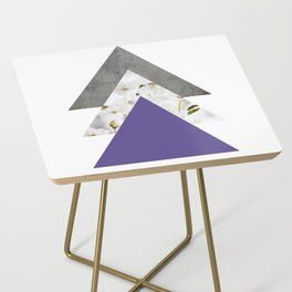 Ultra Violet Blossoms Arrows Side Table