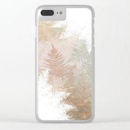 Fern Snowflakes - Golden, bronze & Sage Clear iPhone Case