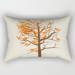 Blazing Fox Tree Rectangular Pillow