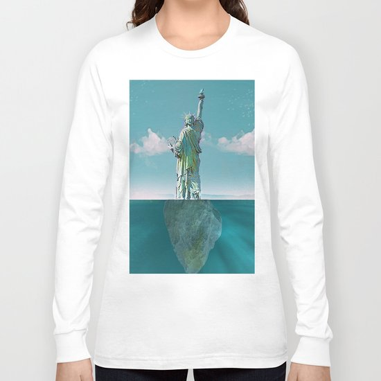Under the statue Long Sleeve T-shirt