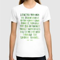 will ferrell T-shirts featuring candy cane forest by rad owl LLC