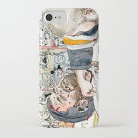 hockey iPhone & iPod Cases featuring Hockey fight by Chris Gauvain