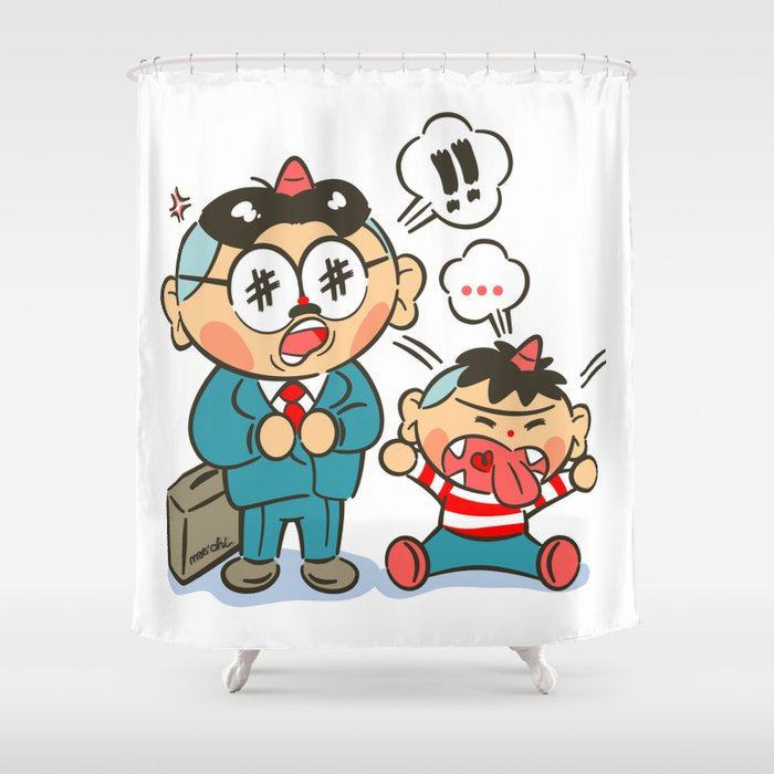 Daddy Good Boy Shower Curtain