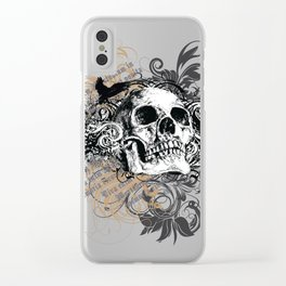 The life of the dead is retained in the memory of the living Clear iPhone Case