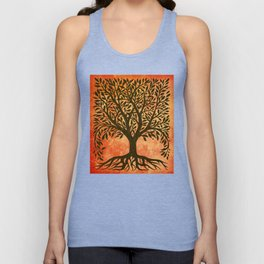 Tree Of Life Warm Tones Unisex Tank Top