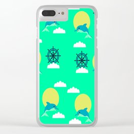 Dolphins play Clear iPhone Case