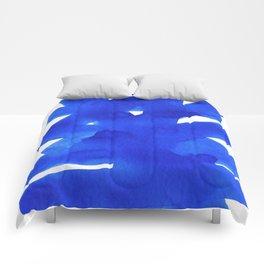Superwatercolor Blue Comforters