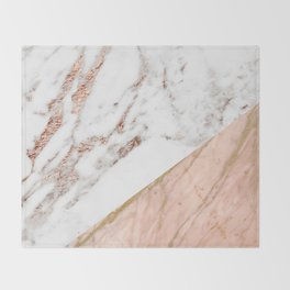 Marble rose gold blended Throw Blanket