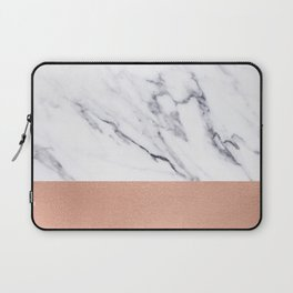 Marble Rose Gold Luxury iPhone Case and Throw Pillow Design Laptop Sleeve