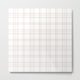 Cute Plaid 1 Metal Print
