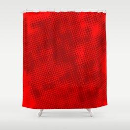 Red Grunge Background Shower Curtain