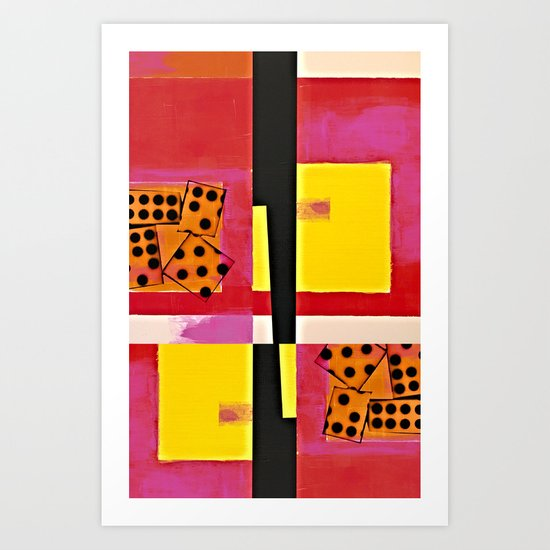 Domino Effect Art Print