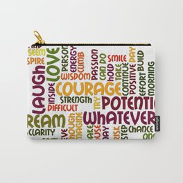 Positively encouraging words Carry-All Pouch