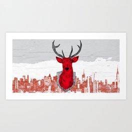 Chasse urbaine Art Print