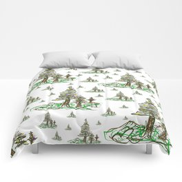 Trees on White Comforters