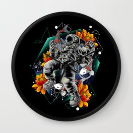 Lucky Spaceman Wall Clock