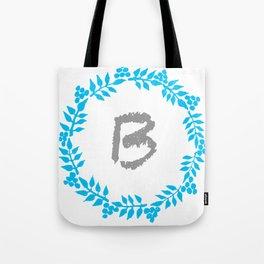 B White Tote Bag