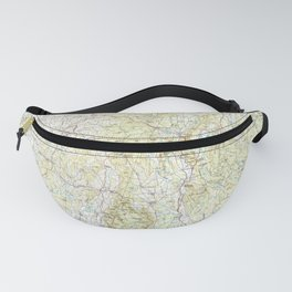 MA Pittsfield 353177 1986 topographic map Fanny Pack
