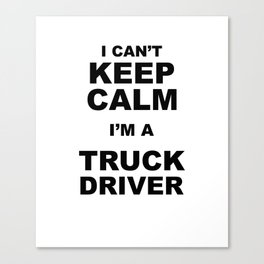 Trucker Canvas Print