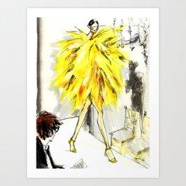 Yellow pop up #society6 Art Print