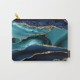 Ocean Blue Mermaid Marble Carry-All Pouch