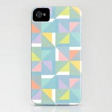 pinwheels - blue Slim Case iPhone (4, 4s)
