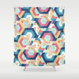 Modern geometric abstract pattern Shower Curtain