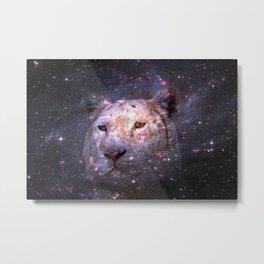 Tiger and Galaxy Metal Print